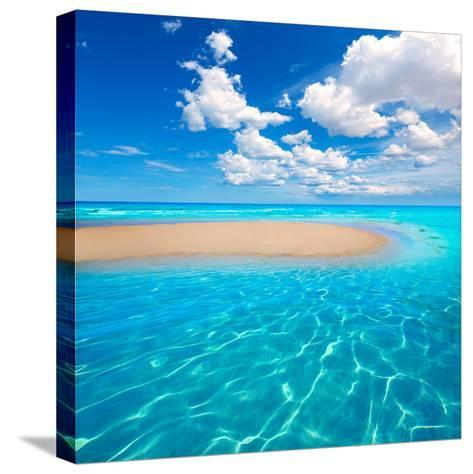 Fuerteventura Jandia Beach Sotavento at Canary Islands of Spain-Naturewolrd-Stretched Canvas Print