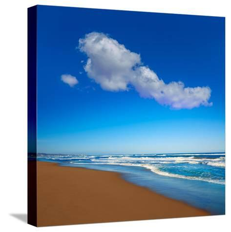 Tavernes De Valldigna Beach Dunes in Valencia of Spain-Naturewolrd-Stretched Canvas Print