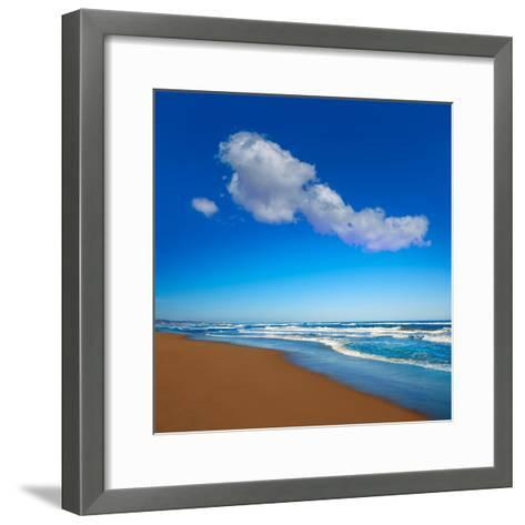 Tavernes De Valldigna Beach Dunes in Valencia of Spain-Naturewolrd-Framed Art Print