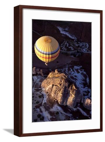 Hot Air Balloon in Turkey-Gonçalo Silva-Framed Art Print