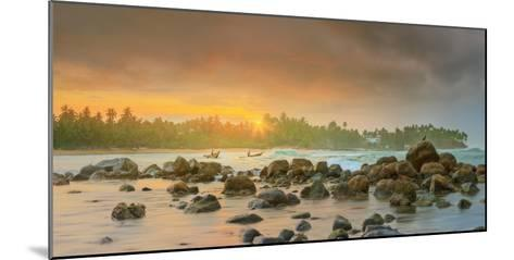 Romantic Untouched Tropical Beach on Sunset, Sri Lanka-Hanna Slavinska-Mounted Photographic Print