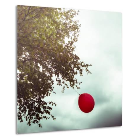 A Red Balloon Hanging on a Tree-Joana Kruse-Metal Print