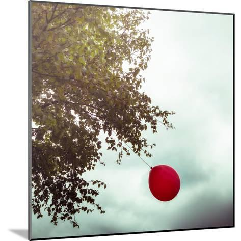 A Red Balloon Hanging on a Tree-Joana Kruse-Mounted Photographic Print