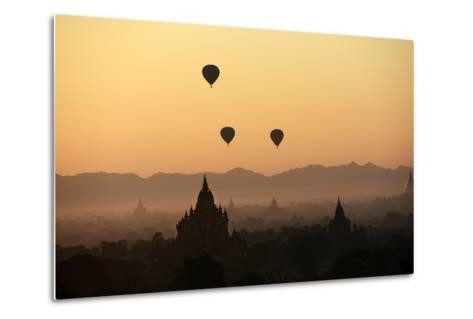 A Beautiful Sunrise over the Buddhist Temples in Bagan-Boaz Rottem-Metal Print