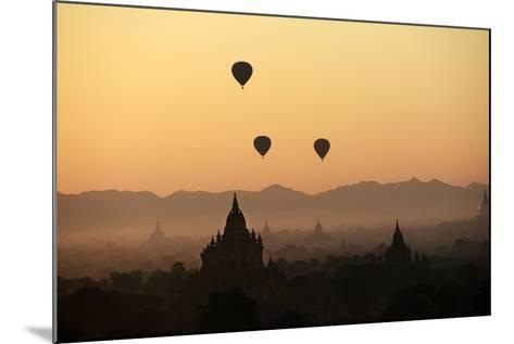 A Beautiful Sunrise over the Buddhist Temples in Bagan-Boaz Rottem-Mounted Photographic Print