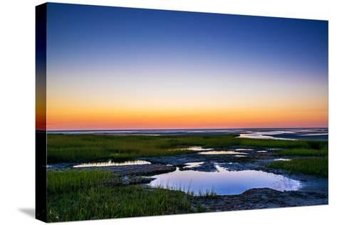 Salt Marsh Tidal Pools at Low Tide, Boat Meadow Beach, Eastham, Cape Cod, Massachusetts, USA-Mira-Stretched Canvas Print