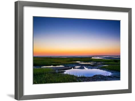 Salt Marsh Tidal Pools at Low Tide, Boat Meadow Beach, Eastham, Cape Cod, Massachusetts, USA-Mira-Framed Art Print