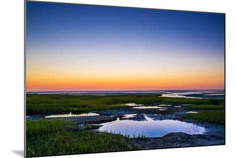 Salt Marsh Tidal Pools at Low Tide, Boat Meadow Beach, Eastham, Cape Cod, Massachusetts, USA-Mira-Mounted Photographic Print