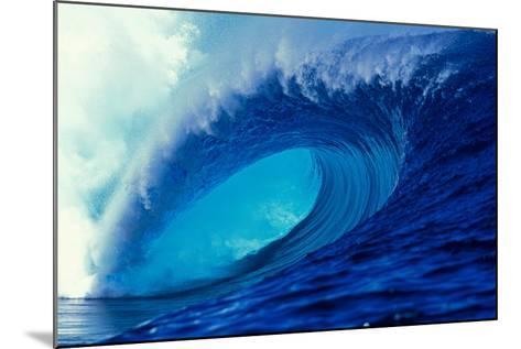 Massive Empty Breaker Ready for the Next Surfer Tahiti-Tony Harrington-Mounted Photographic Print