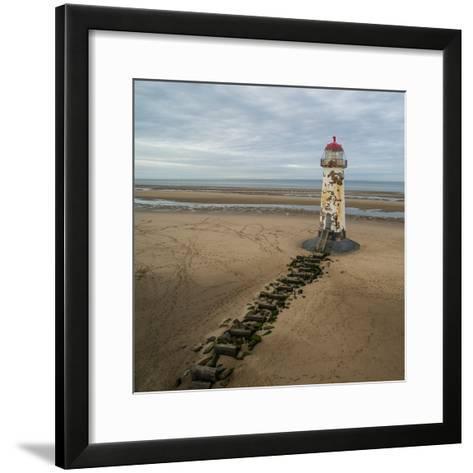 Derelict Lighthouse at Low Tide-Chris Billington-Framed Art Print