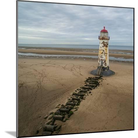Derelict Lighthouse at Low Tide-Chris Billington-Mounted Photographic Print