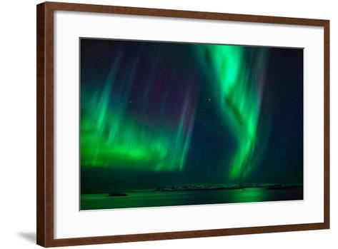 Aurora Borealis or Northern Lights, Stykkisholmur, Snaefellsnes Peninsula, Iceland-Ragnar Th Sigurdsson-Framed Art Print