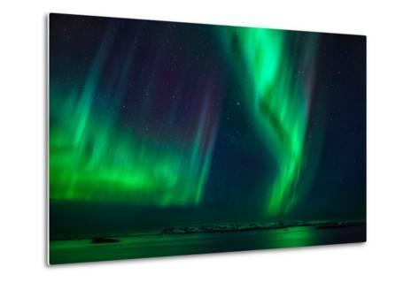 Aurora Borealis or Northern Lights, Stykkisholmur, Snaefellsnes Peninsula, Iceland-Ragnar Th Sigurdsson-Metal Print
