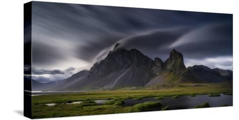 Mountain Landscape, Hvalsnes, Eastern Iceland-Ragnar Th Sigurdsson-Stretched Canvas Print