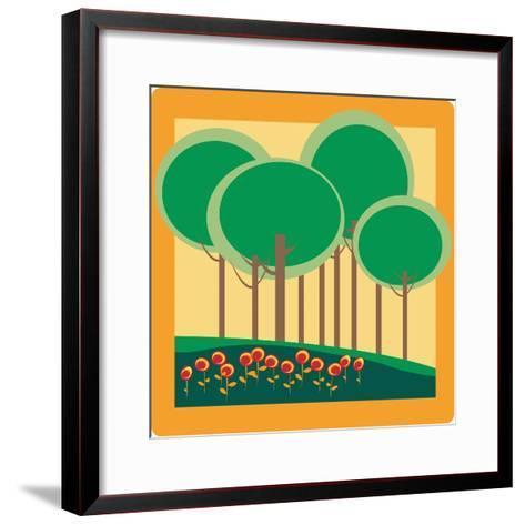 Autumn- Lirch-Framed Art Print