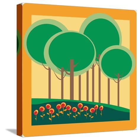 Autumn- Lirch-Stretched Canvas Print