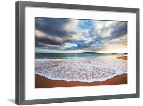 Sea on Sunset-Kamchatka-Framed Art Print