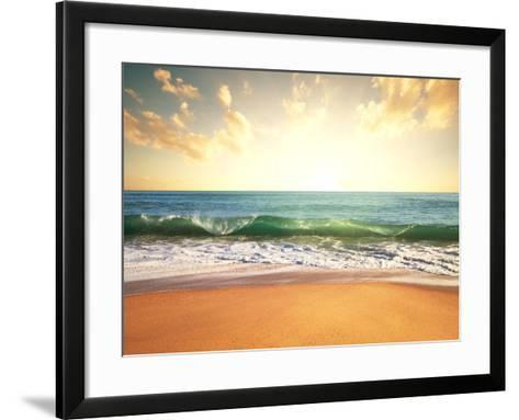 Sea Sunset-Kamchatka-Framed Art Print