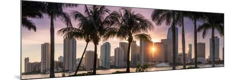 Florida, Miami Skyline at Sunset-John Kellerman-Mounted Photographic Print