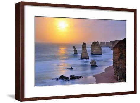 Moonset over Twelve Apostles in Victoria, Australia-Nokuro-Framed Art Print