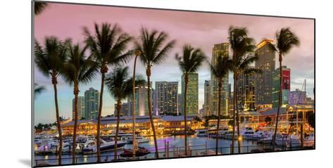 Miami, Bayside Shopping Mall at Dusk-John Kellerman-Mounted Photographic Print