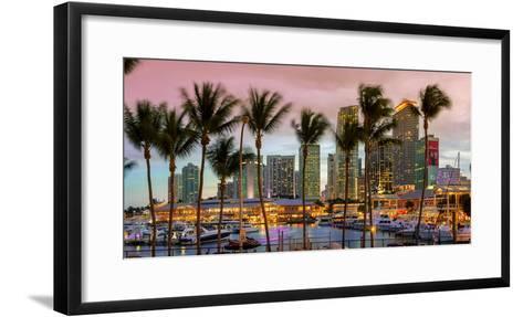Miami, Bayside Shopping Mall at Dusk-John Kellerman-Framed Art Print