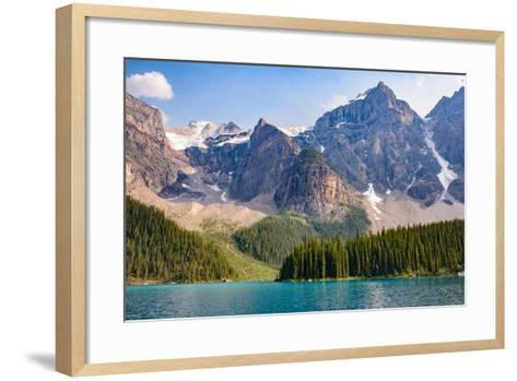 Lake Moraine, Near Lake Louise, Banff National Park, Canadian Rockies-Luis Leamus-Framed Art Print