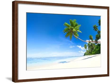 Beach-Rawpixel-Framed Art Print