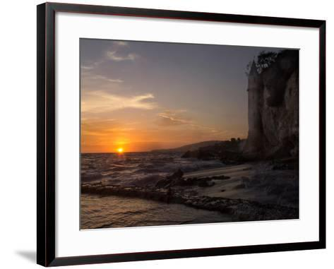 The Sunset over the Turret Tower at Victoria Beach in Laguna Beach, Southern California-Stephanie Starr-Framed Art Print