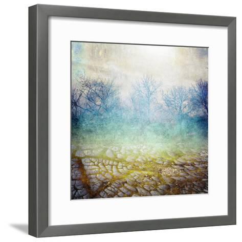 Background with Cracks- Anelina-Framed Art Print