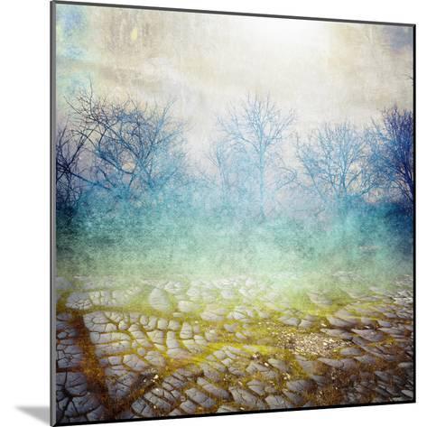 Background with Cracks- Anelina-Mounted Photographic Print