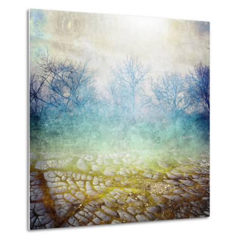Background with Cracks- Anelina-Metal Print