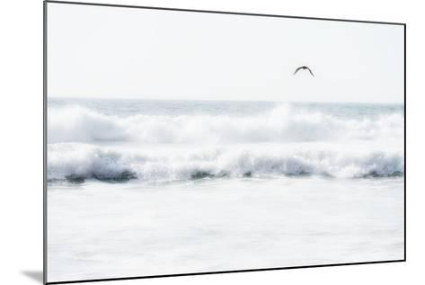 Sea Waves with Flying Seagull- Sarosa-Mounted Photographic Print