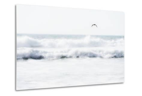 Sea Waves with Flying Seagull- Sarosa-Metal Print
