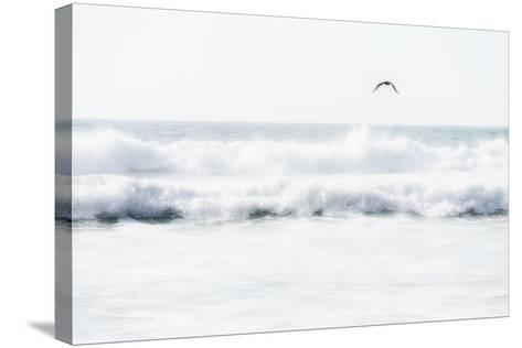 Sea Waves with Flying Seagull- Sarosa-Stretched Canvas Print