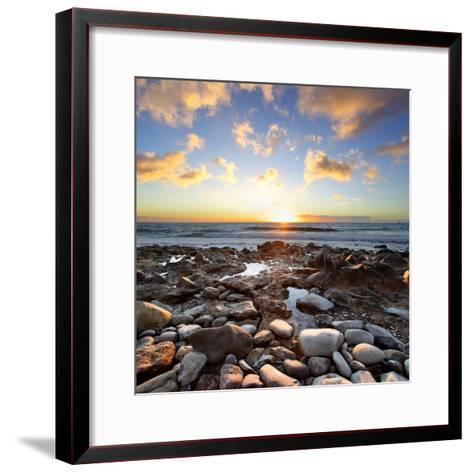 Beautiful Sunset at Atlantic Ocean. Tenerife, Canary Islands-Roman Sigaev-Framed Art Print