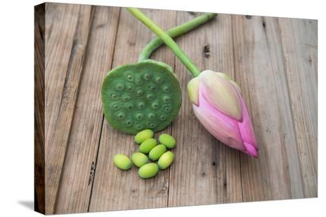 Beautiful Lotus Blooming in Summer-Wu Kailiang-Stretched Canvas Print