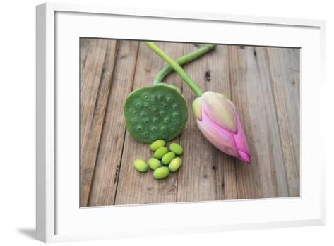 Beautiful Lotus Blooming in Summer-Wu Kailiang-Framed Art Print