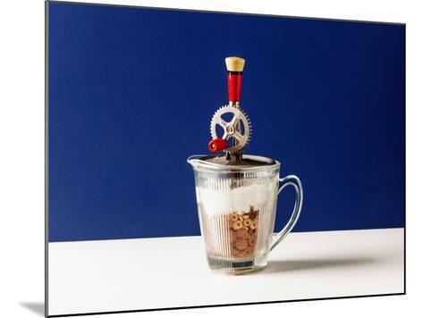 Processed Food. Vintage Beater with Cereals and Yogurt-Marina Ortega-Mounted Photographic Print