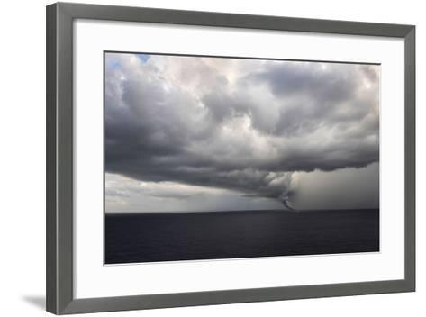 Tornado Touching Down at Sea with Dark Clouds Swirling-Gino'S Premium Images-Framed Art Print