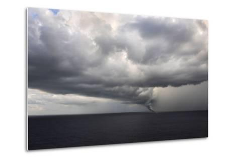 Tornado Touching Down at Sea with Dark Clouds Swirling-Gino'S Premium Images-Metal Print