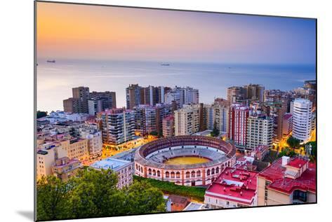 Malaga, Spain Cityscape at Dawn-Sean Pavone-Mounted Photographic Print