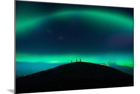 Photographing Auroras and Icebergs at Glacial Lagoon, Vatnajokull Ice Cap, Iceland-Ragnar Th Sigurdsson-Mounted Photographic Print