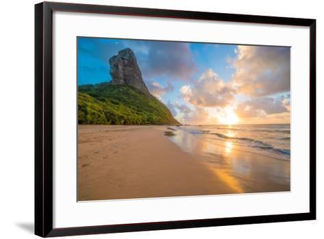 Sunset at Pico Mountain Above Boldro Beach-Tom Till-Framed Art Print