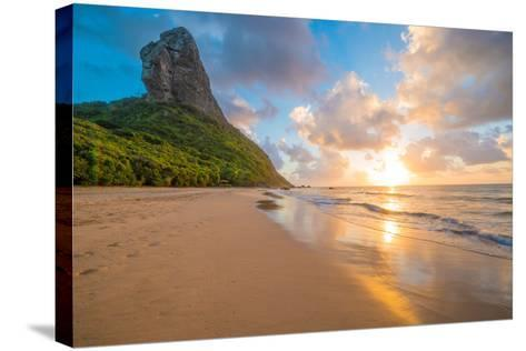 Sunset at Pico Mountain Above Boldro Beach-Tom Till-Stretched Canvas Print