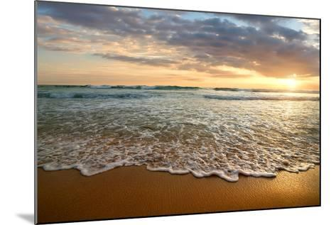 Bright Cloudy Sunset in the Calm Ocean- Givaga-Mounted Photographic Print