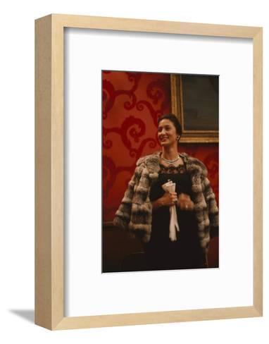 Rosalind Russell, in the Louis Sherry Bar, Metropolitan Opera, New York, NY, 1959-Yale Joel-Framed Art Print