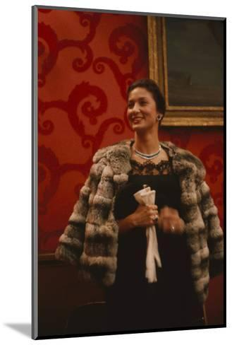 Rosalind Russell, in the Louis Sherry Bar, Metropolitan Opera, New York, NY, 1959-Yale Joel-Mounted Photographic Print