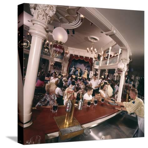 July 17 1955: Children's Saloon, the Golden Horseshoe Soft Drink Concessionaire, Disneyland, Ca-Loomis Dean-Stretched Canvas Print