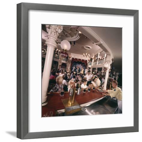 July 17 1955: Children's Saloon, the Golden Horseshoe Soft Drink Concessionaire, Disneyland, Ca-Loomis Dean-Framed Art Print